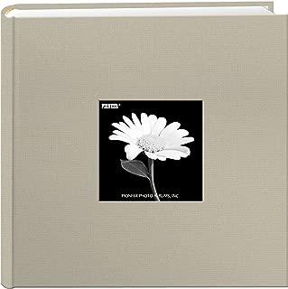 Fabric Frame Cover Photo Album 200 Pockets Hold 4x6 Photos, Biscotti Beige