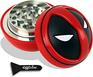 Official Deadpool Herb Grinder With BONUS Scraper - Deadpool Gifts - Cool Grinders For Herb - 3 Piece Grinder, 2.2 inches by Nestpark