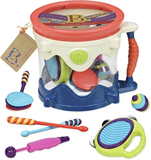 B. toys - B. Drumroll - Toy Drum Set (Includes 7 Percussion Instruments for Kids)