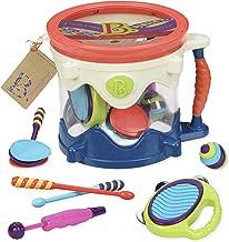 B اسباب بازی - Drumroll لطفا - 7 ابزار موسیقی اسباب بازی طبل اسباب بازی برای کودکان 18 ماه + (7 عدد)
