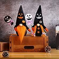 Deals on 2Pc Wigood Halloween Mr & Mrs Handmade Swedish Gnomes Plush Decor