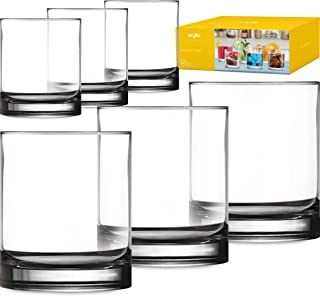 Plastic Tumbler Cups Drinking Glasses - Acrylic Highball Tumblers Set of 6 Clear 14 oz Unbreakable Reusable Kitchen Drinkware Dishwasher Safe Bpa Free Hard Rocks Glass Drink Cup for Wine Water Juice