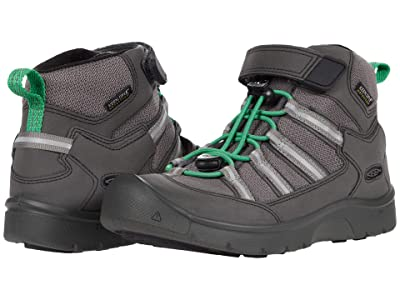 KEEN Kids Hikeport 2 Mid Strap WP (Little Kid/Big Kid) (Black/Irish Green) Boy