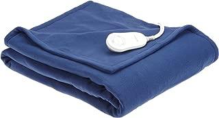 Sunbeam Royal Cuddle-Up Fleece Heated Throw, Newport Blue