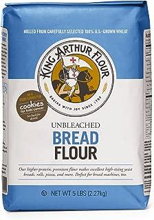 King Arthur Unbleached Bread Flour, 5-pounds (Pack of 4)