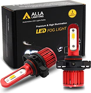 Alla Lighting 5200lm AL-R 2504 PSX24W LED Yellow Fog Lights Bulbs Xtreme Super Bright 2504 PSX24W LED Bulb 12V LED 2504 PSX24W1 Bulb Upgrade for Cars, Trucks w/ 12276 2504 Fog Light