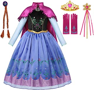 Princess Costume Halloween Cosplay Deluxe Dress Up for Girls