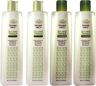 Trader Joe's Tea Tree Tingle Moisturizing Shampoo & Conditioner 4 Pack (2 Each) - CRUELTY FREE