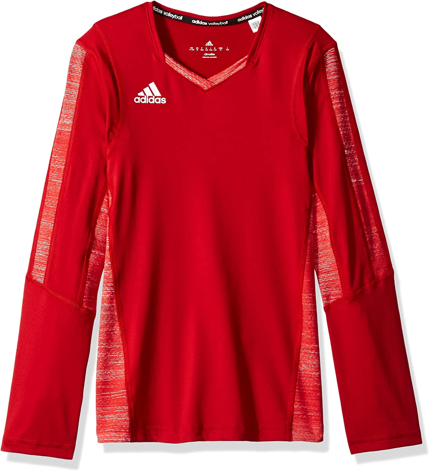 adidas Girl's Max 71% OFF Volleyball Quickset Long Jersey Max 60% OFF Sleeve