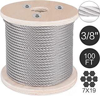 "500-Foot Spool All Diameters and Lengths Available Premier Stainless Solutions 3//16/"" 7x7 Stainless Steel Semi-Flexible Cable T316 Marine Grade"