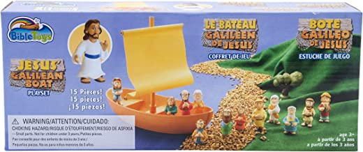 Noahs Ark Build A Story by BibleToys Sticker Sheet and Unfolding Ark Storybook Childrens Playset with Noah and 6 Animals