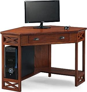 Leick Corner Computer and Writing Desk, Oak Finish