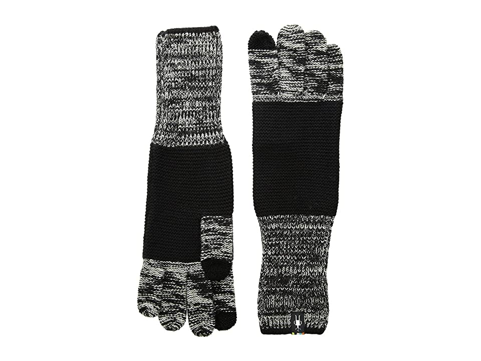 Smartwool Winter Valley Stripe Gloves (Black/Light Gray Donegal) Extreme Cold Weather Gloves