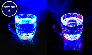 BAAL Rainbow Magic Color Cup with LED Light Party Mug Pack of 1 Set of 2