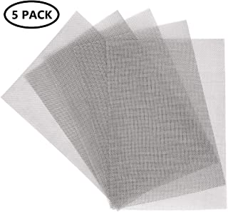 """KONIBN 5pcs Stainless Steel Woven Wire 20 Mesh - A4 12""""x8""""(30x21cm) Metal Mesh Sheet 1mm Hole Great for Air Ventilation"""