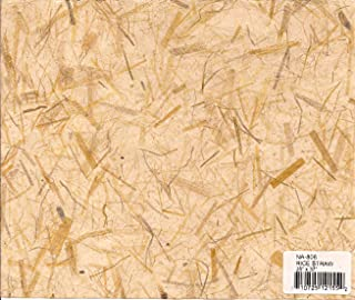 RICE STRAW - Mulberry paper with natural inclusions