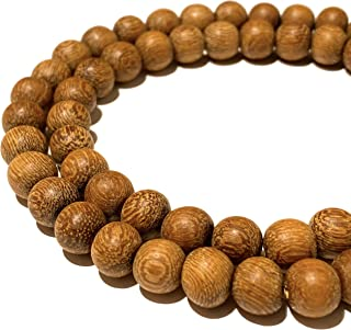 [ABCgems] Essential Oil Diffuser Kakawate AKA Madre De Cacao Hardwood (Exquisite Wood Grain) 10mm Matte Finished Round Wood Beads for Jewelry Making (No Wax)