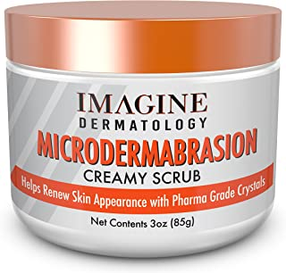 Microdermabrasion Facial Creamy Scrub & Face Exfoliator with Microdermabrasion Crystals Clinical Grade Acne Scars, Anti-Aging, Renews Skin No Machine No Mess 3 oz 85 grams