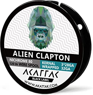 Alien Clapton Spool Nichrome 80 Prebuilt Ni 80 Wirespool 10 Ft / 120 Inch by AKATTAK