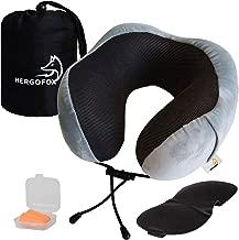 IDEAL PARA AVI/ÓN Y COCHE Tapones aislantes para dormir Almohada de viaje cervical de espuma de mem/ória viscoel/ástica Kit con Antifaz ajustable