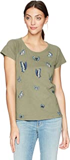 Women's Embroidered Butterfly Tee