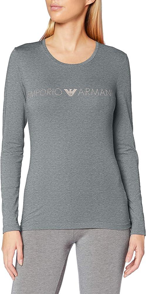 Emporio armani t-shirt,maglietta per donna,95% cotone, 05% elastan 0A31716313906749