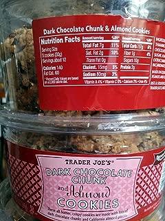 2 packages Trader Joe's Dark Chocolate Chunk & Almond Cookies
