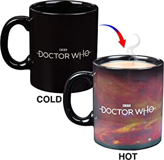 Doctor Who Heat Reveal Ceramic Coffee Mug - Tardis and Tree Design Activates with Heat - 11 oz