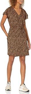 Marchio Amazon - Goodthreads - Georgette Ruffle-sleeve Mini Dress, dresses Donna