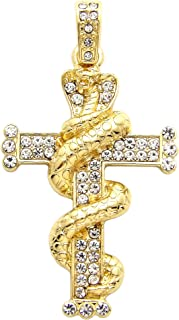 Best iced out snake pendant Reviews