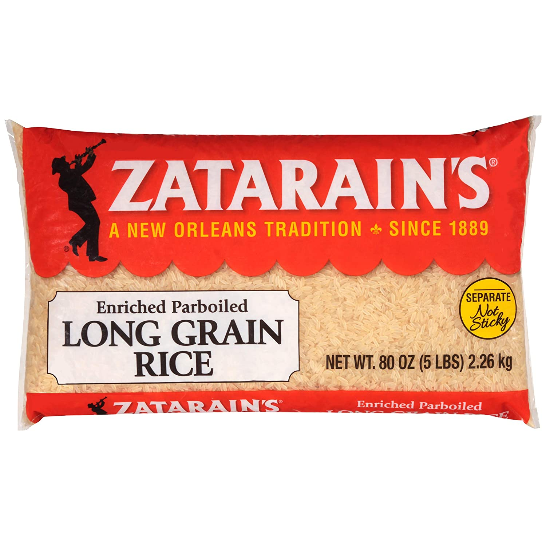Zatarain's Enriched Genuine Parboiled Long Grain 5 Bargain Rice lb