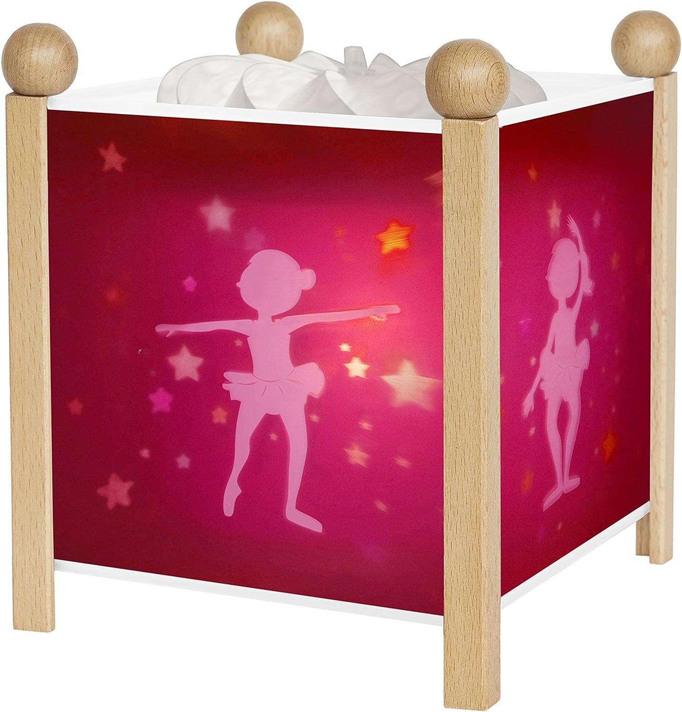 Trousselier 4311GB 12V  Magic Lantern Ballerina  Night Lamp,Brown Red