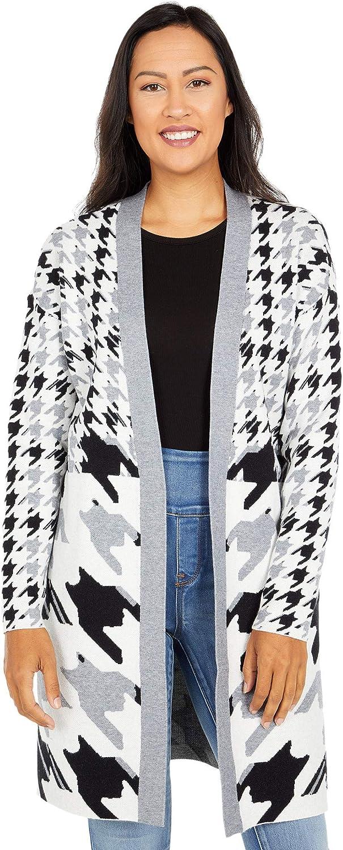 Tribal Long Sleeve Houndstooth Sweater Cardigan