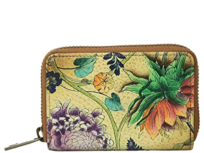 Anuschka Handbags 1110 Credit And Business Card Holder (Caribbean Garden) Coin Purse