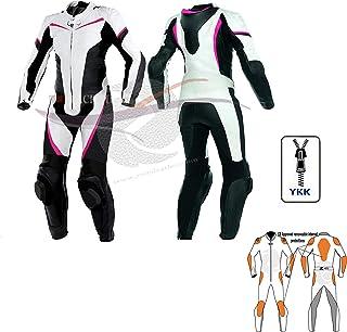 Zens - Traje de piel para mujer y motocicleta, traje de moto de una pieza, traje de cuero para mujer con zumbido rápido y protección de cualquier tamaño