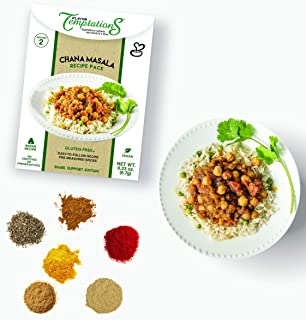 Chana Masala or Chole Masala Indian Spices by Flavor Temptations. Home Cook Curry Dish with Beginners Seasoning Set. Glute...