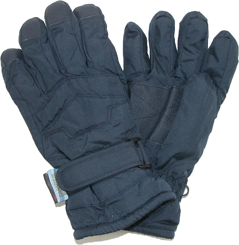 Ages 8-10 Medium Black CTM/® Kids 8-18 Waterproof Ski Gloves