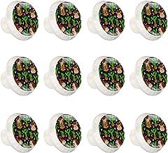 "12 Pack Ronde Keukenkast Knoppen Trekt (1-37/100"" Diameter) - Schattig Dier en Plant - Dressoir Lade/Deur Hardware - DIY P..."