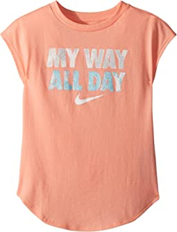 I Want It All Modern Short Sleeve Tee (Little Kids)