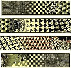 Artopweb絵画 Escher - Metamorphosis II, 1940 (4 MDF Panels) 装飾パネル, マルチカラー, サイズ: 100x22 Cm