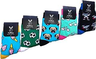 TwoSocks, Divertidos y coloridos calcetines para niños y niñas, calcetines divertidos como regalo, transpirables, talla única 25-33