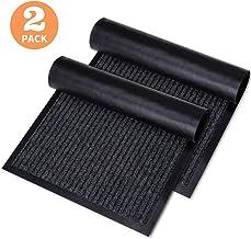 KMAT 2 Pack Door Mat Outdoor Indoor, Waterproof Anti-Slip Durable Rubber Doormat Low-Profile Design Floor Front Doormat Ru...