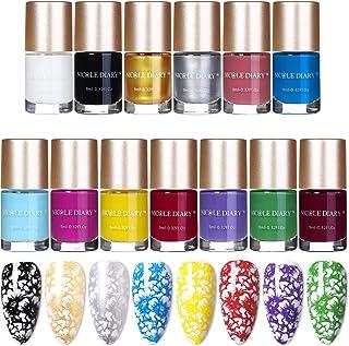 NICOLE DIARY 13 Unids Nail Art Stamping Polish Nail Plate Impresión Barniz Laca de Uñas para nail art Printing (13 colores)