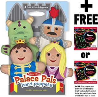 Melissa & Doug Palace Pals 4-Piece Hand Puppets Gift Set + Free Scratch Art Mini-Pad Bundle [90827]