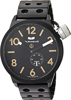 Vestal 'Canteen Metal' Quartz Stainless Steel Casual Watch, Color Black (Model: CNT453M07.DBKM)
