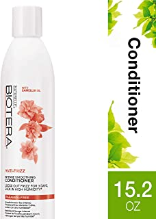 Biotera Anti-Frizz Intense Smoothing Conditioner, with Camellia Oil, Paraben-Free, 15.2-Ounce