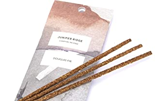 Juniper Ridge All-Natural Aromatic Campfire Incense - Long-Lasting Bamboo Sticks - Aromatherapy & Meditation Therapy - No Synthetic Fragrance - Douglas Fir - 20 Count