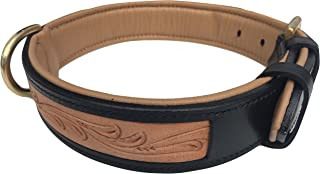 Soft Touch Collars - Padded Leather Dog Collar, Custom Handmade Hand Tooled