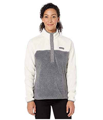 Columbia Benton Springstm 12 Snap Pullover (City Grey Heather/Chalk) Women