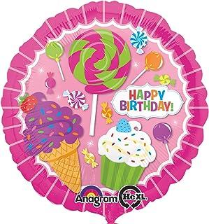 "Amscan International 3161501 Burton 17 Inch Happy Birthday Balloon Sweet Shop Foil, 17"""